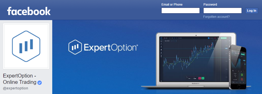 facebook page expertoption