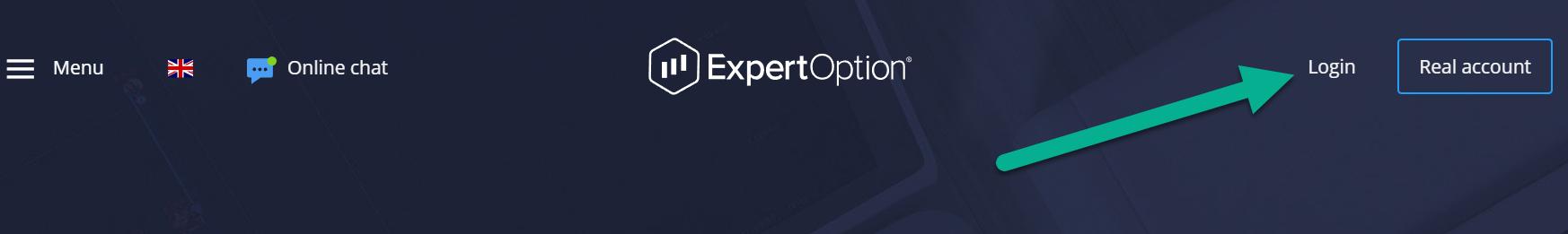 ExpertOption login deposit