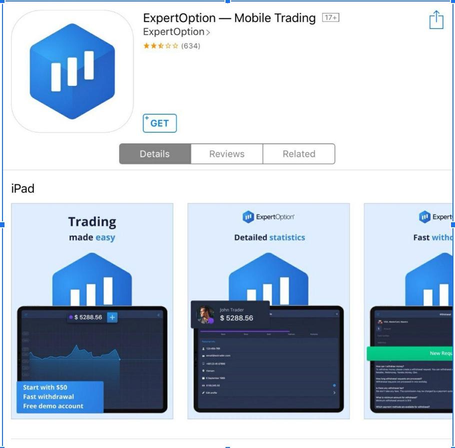 Expertoption ios app in India