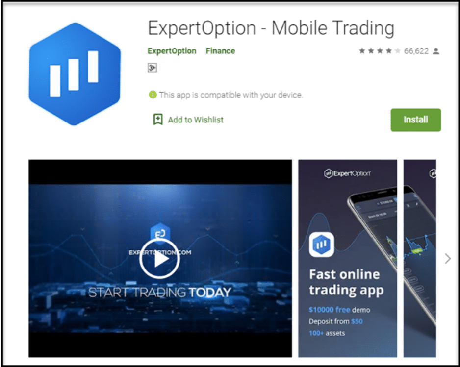 ExpertOption android application