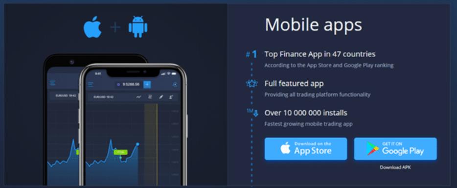 ExpertOption.com mobile applications