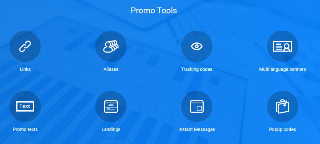 ExpertOption affiliate program promo tools / links